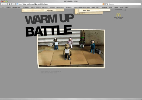 Users can choose a warm up session or go straight to battle
