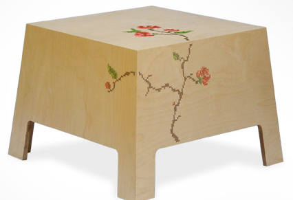 Embroidered table by Reddish