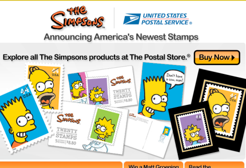Simpsons Stamps