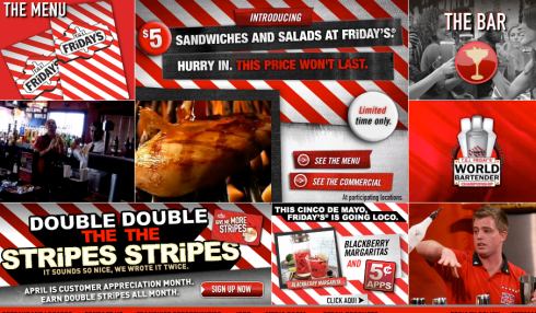 T.G.I. Friday's Homepage