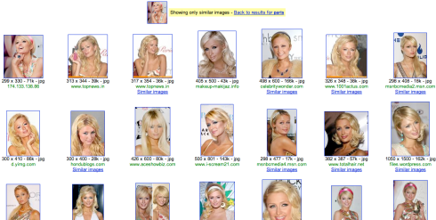 Paris Hilton Google Similar Images