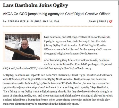Lars Bastholm joins Ogilvy