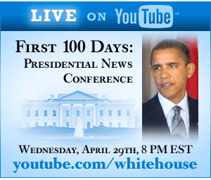 Web Banner for The White House Channel