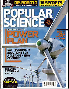 Popular Science cover uses augmented reality