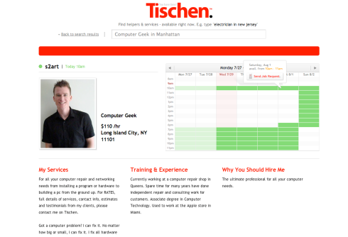 User Profile on Tischen