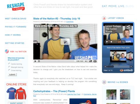 Reshape The Nation blog