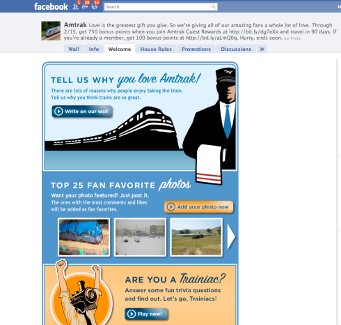 Amtrak Facebook