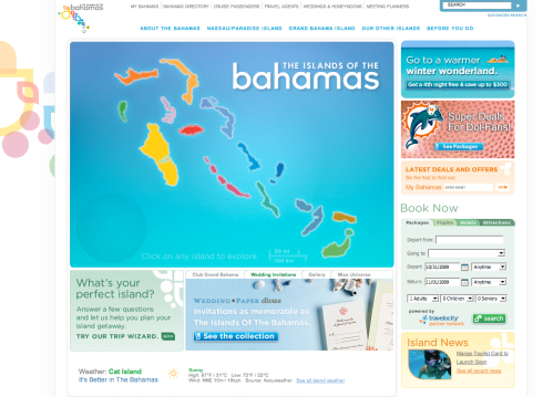 Bahamas.com Homepage