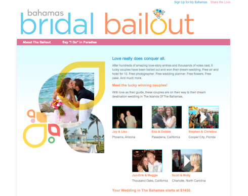 Bridal Bailout Winners