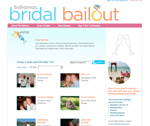 Bridal Bailout Entries