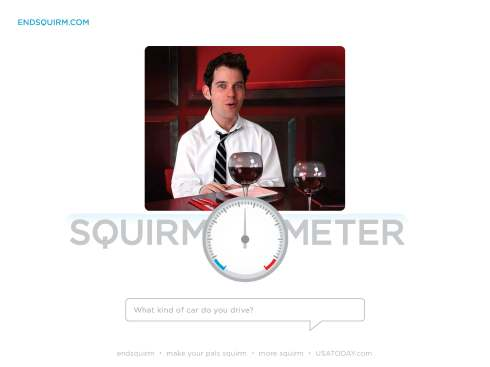 Endsquirm is about letting users see if they can hold a conversation.