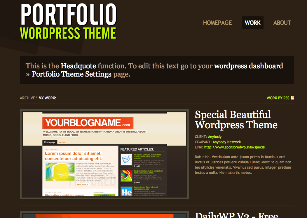 Free Portfolio Site for Web Designers, Copywriters, Art Directors ...