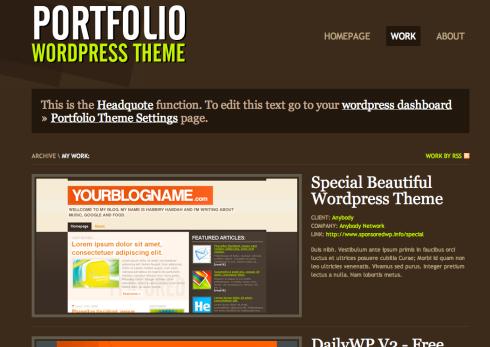 Free Portfolio Site