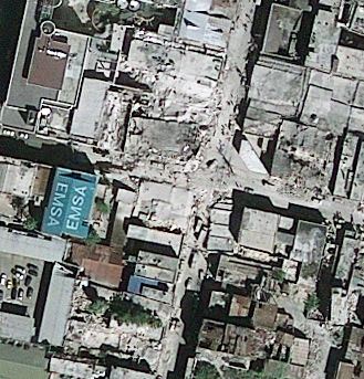 Satellite picture of Haiti taken yesterday by Geoeye