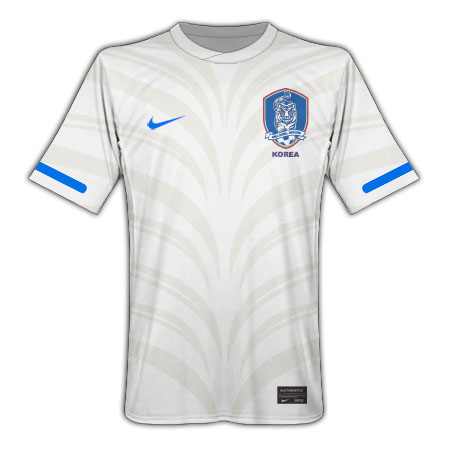 Nike White Tiger South Korean World Cup shirt