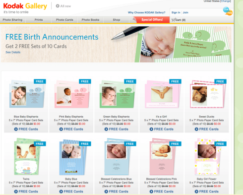 http://www.kodakgallery.com/free-birth-announcements/pc-Products-c-Free_Birth_Announcements