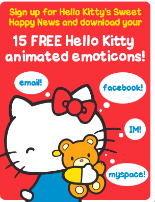 Hello Kitty emoticons
