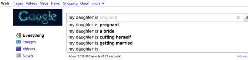 "Google Instant ""My daughter is"""