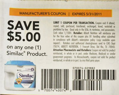 Similac $5 coupon